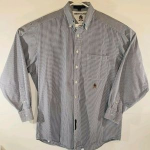 Tommy Hilfiger Blue Striped Button Down